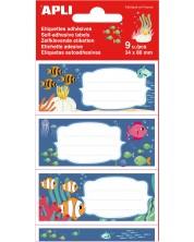 Etichete scolare Apli - Ocean, 9 bucati -1
