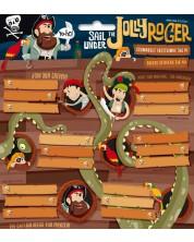 Etichete scolare Ars Una Jolly Roger - 18 bucati -1