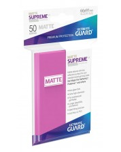 Protectii Ultimate Guard Supreme UX Sleeves Standard Size - Roz mat (50 buc.)
