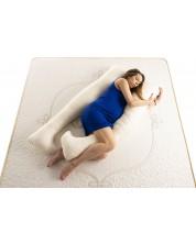 Perna pentru gravide Medico - Happy MomPure Cotton and Wool, in forma de U, umplutura cu lana -1