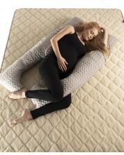 Perna pentru gravide Medico - Happy Mom Hemp&Cotton, in forma de U -1