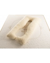Perna pentru gravide Medico - Happy Mom Organic Wool Double,  in forma de U, umplutura cu lana -1