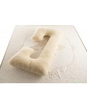 Perna pentru gravide Medico  - Happy Mom Organic Wool Double,  in forma de C, umplutura cu lana -1