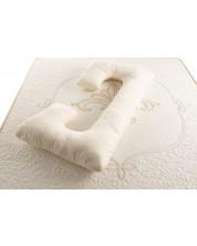 Perna pentru gravide Medico - Happy Mom Pure Cotton and Wool, in forma de C, umplutura cu lana -1