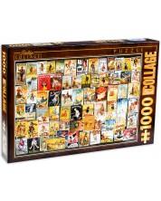 Puzzle D-Toys de 1000 piese - Colaj vintage, Biciclete