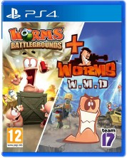 Worms Battlegrounds + Worms WMD - Double Pack (PS4)