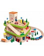 Garaj din lemn cu accesorii Woody -1