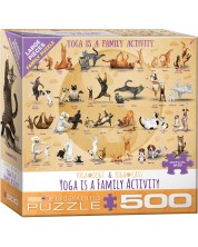 Puzzle Eurographics de 500 XL piese - Yoga is a Family Activity
