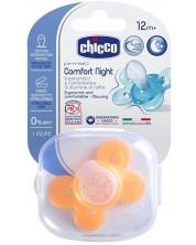 Suzeta Chicco - Physio Comfort, silicon, 12 luni+, fosforescenta -1