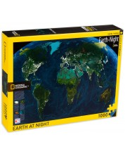 Puzzle New York Puzzle de  1000 piese - Pamantul noaptea
