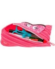 Penar scolar  Zipit - Monstru cu fermoar, mijlociu, roz