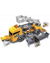Set de joaca Super Storage - Santier in camion, cu 2 masinute -1