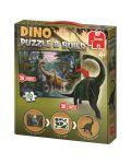 Puzzle Jumbo  de 50 piese- Cu figurina dinozaur 3D inclusa - 1t