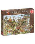 Puzzle Jumbo de 1000 piese - Bucati de istoria, Vestul Salbatic - 1t