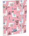 Dosar cu elastic Lizzy Card A4 - Lama LOL, Lollipop - 1t