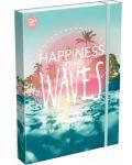Cutie cu elastic Lizzy Card A4 – Wave, Good Vibes - 1t