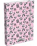 Cutie cu elastic Lizzy Card A4 –Hello Panda, Lollipop - 1t