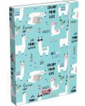 Cutie cu elastic Lizzy Card A4 –Lama LOL, Lollipop - 1t