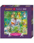 Puzzle patrat Heye de 1000 piese - Viata salbatica, Guillermo Mordillo - 1t