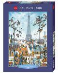 Puzzle Heye de 1000 piese - Turnul Eiffel, Jean-Jacques Loup - 1t