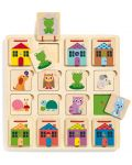 Puzzle multistrat din lemn Djeco - Cabanimo, 3 niveluri - 1t
