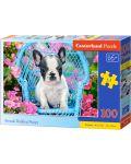 Puzzle Castorland de 100 piese - Catel Bulldog francez - 1t