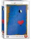 Puzzle Eurographics de 1000 piese – Balerina in albastru, Joan Miro - 1t