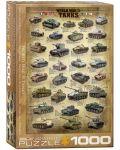 Puzzle Eurographics de 1000 piese – Tancuri din timpul celui de-al doilea razboi mondial  - 1t