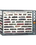 Puzzle Eurographics de 1000 piese – Locomotive cu abur - 1t