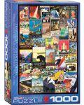 Puzzle Eurographics de 1000 piese – Reclame retro, calatorie in America - 1t