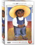 Puzzle Eurographics de 1000 piese – Portretul lui Ignacio Sanchez, Diego Roivera - 1t