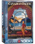 Puzzle Eurographics de 1000 piese –  Canadian Pacific, Frumosul lac Louis - 1t