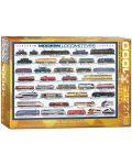 Puzzle Eurographics de 1000 piese – Locomotive contemporane - 1t