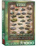 Puzzle Eurographics de 1000 piese – Istoria tancurilor - 1t