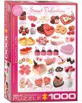 Puzzle Eurographics de 1000 piese – Dulciuri pentru Sfant Valentin - 1t