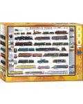 Puzzle Eurographics de 1000 piese – Istoria si dezvoltarea trenurilor - 1t
