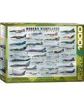 Puzzle Eurographics de 1000 piese – Avioane militare moderne - 1t