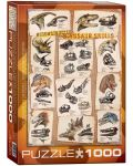 Puzzle Eurographics de 1000 piese – Cranii de dinozauri - 1t