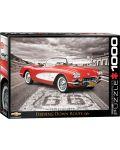Puzzle Eurographics de 1000 piese – Autoturisme clasice Chevrolet din anul 1959 - 1t