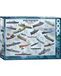 Puzzle Eurographics de 1000 piese – Nave militare din Al doilea razboi mondial - 1t
