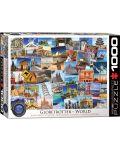 Puzzle Eurographics de 1000 piese – Colectia Globetrotter: lumea - 1t