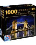 Puzzle D-Toys de 1000 piese - Tower Bridge, Londra - 1t