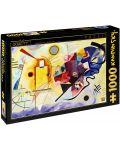 Puzzle D-Toys de 1000 piese – Galben-Rosu-Albastru, Vasili Kandinsky - 1t