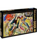 Puzzle D-Toys de 1000 piese – Tablou cu pata rosie, Vasily Kandinsky - 1t