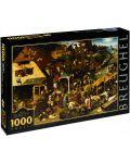 Puzzle D-Toys de 1000 piese – Proverbe olandeze, Pieter Bruegel  - 1t