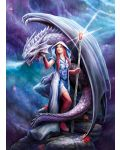 Puzzle Clementoni de 1000 piese - Anne Stokes Collection, Dragon Mage - 2t