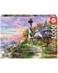 Puzzle Educa de 1000 piese - Lighthouse at Rock Bay - 1t