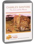 Puzzle Pomegranate de 100 piese - Leul si soricelul, Charles Santore - 1t