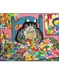 Puzzle Pomegranate de 100 piese - Pisica pictor, Bernard Kliban - 2t