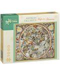Puzzle Pomegranate de 1000 piese - Harta cerurilor, Andreas Cellarius - 1t